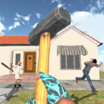 Granny Kick Neighbor – New Free Fun Shooting Games